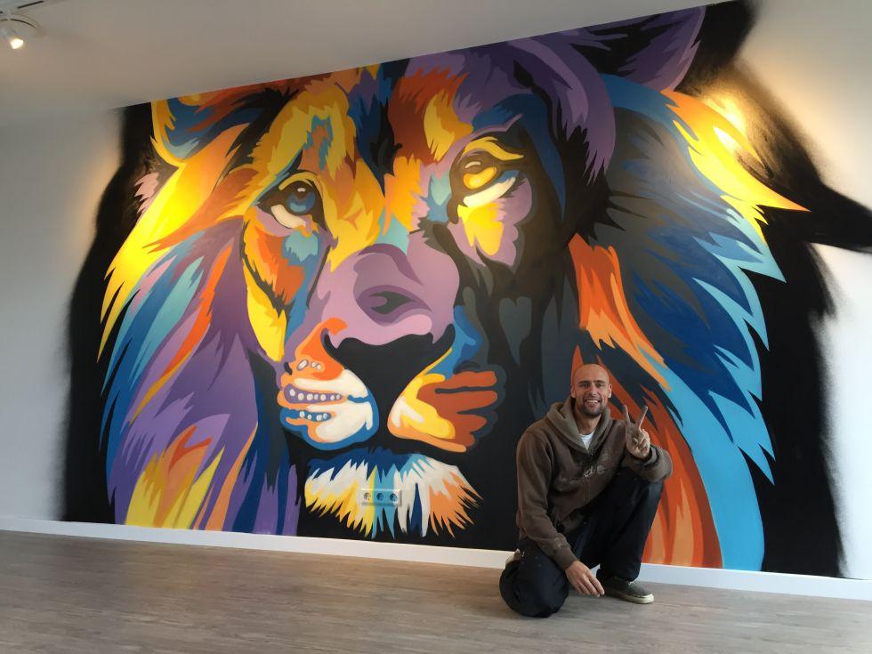 graffiti leeuw