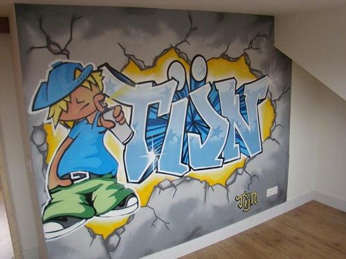 een kinderkamer graffiti zoveel geweldiger dan een graffiti behang ...