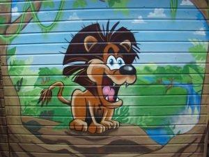 graffiti bij de filmsterretjes