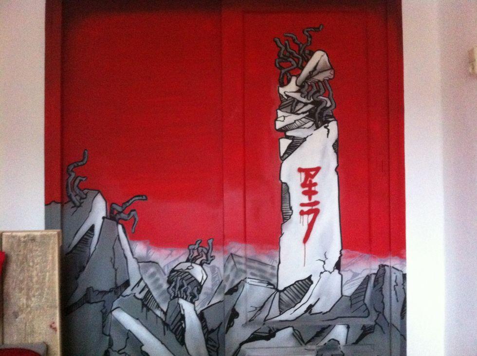 muurschildering akira
