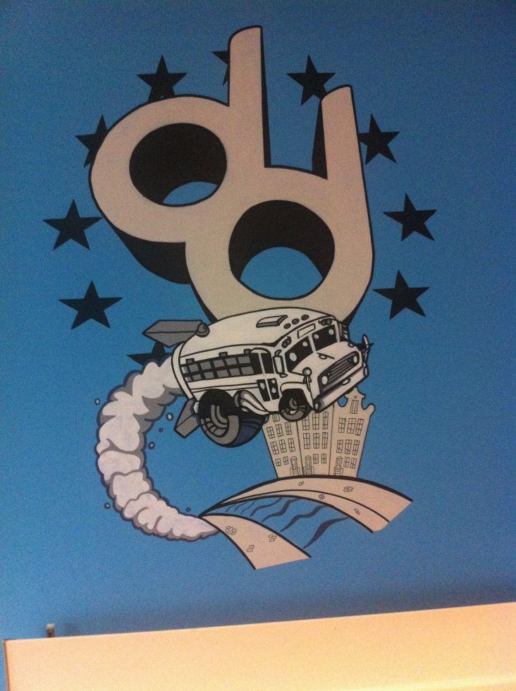 graffiti muurschildering bedrijfslogo