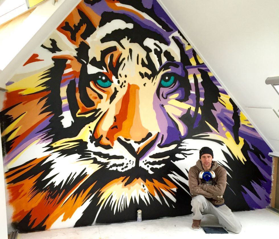 graffiti tijger
