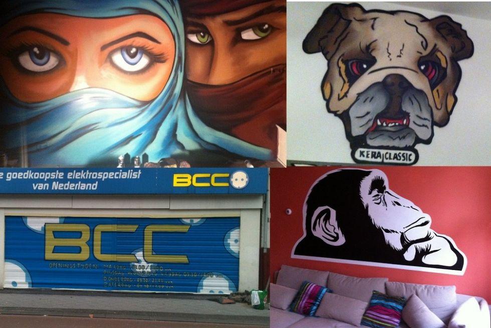 Graffiti laten maken kan bij surfing4art