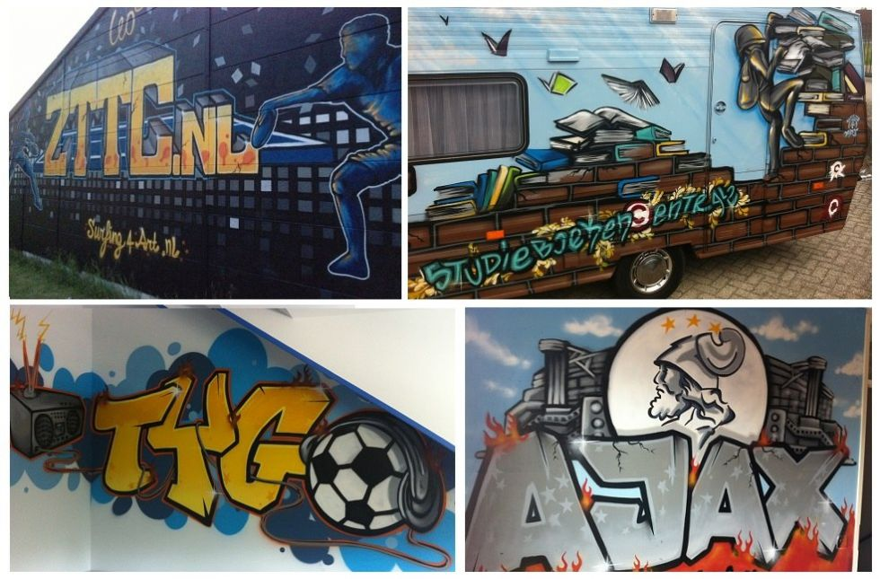 grraffiti muurschildering