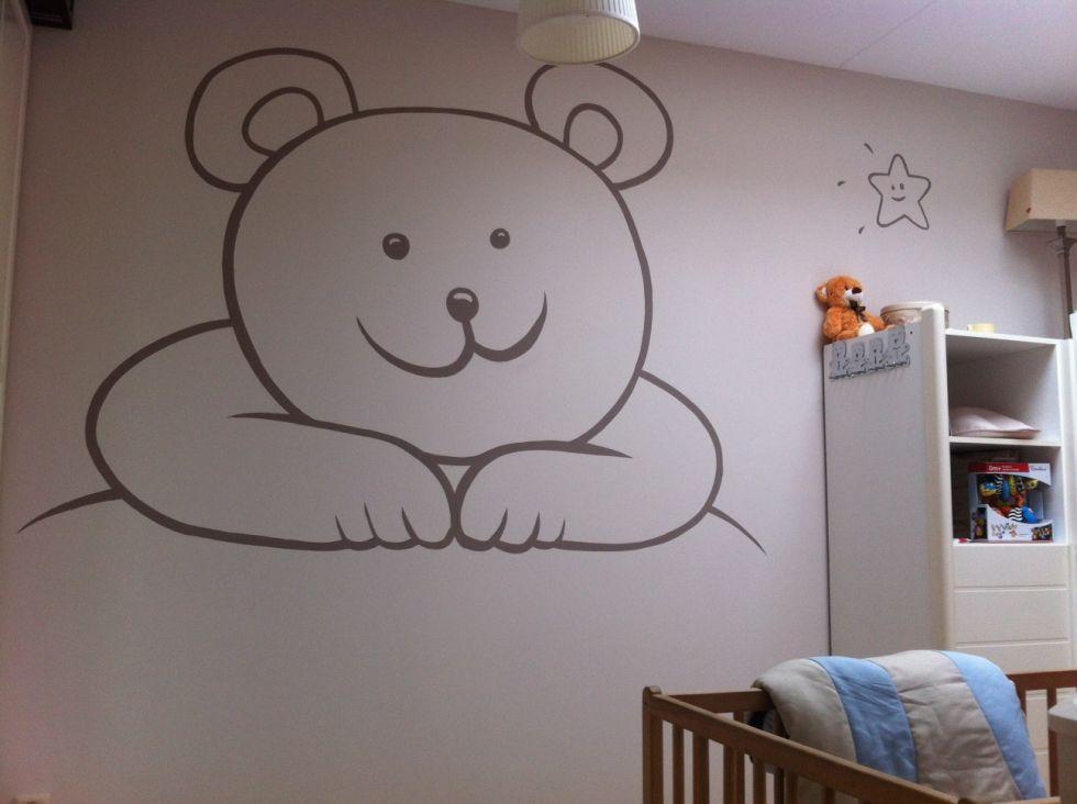 Muurschildering babykamer surfing4art - Muurschildering volwassen kamer ...