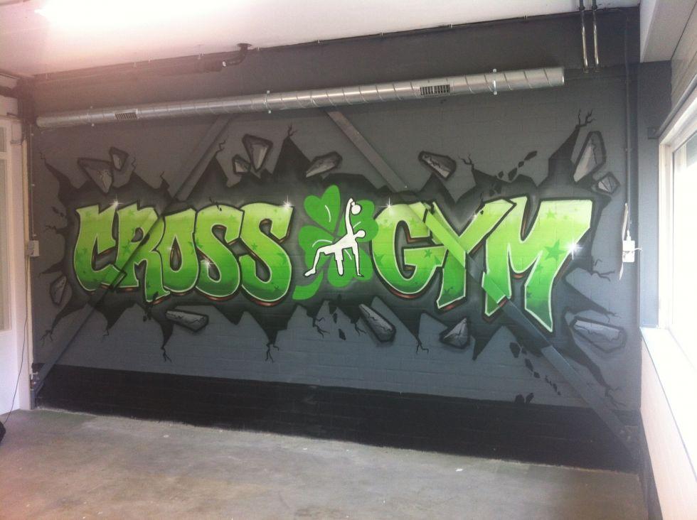 cross gym rotterdam graffiti