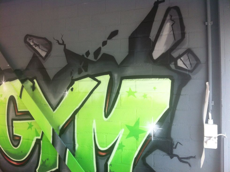 cross gym graffiti