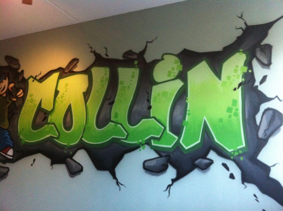 Graffiti kinderkamer surfing4art - Jarige jongenskamer ...
