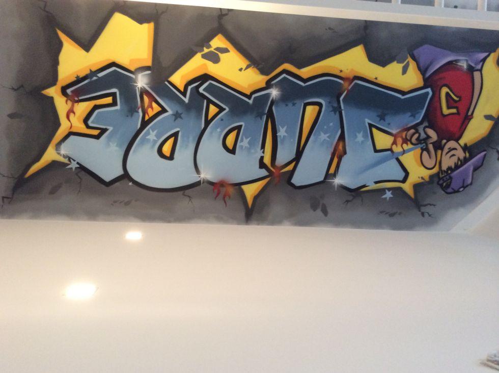 Jurre graffiti ,gemaakt door Graffiti kunstenaar Tim