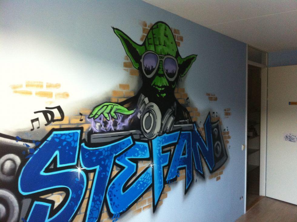 graffiti kamer Yoda