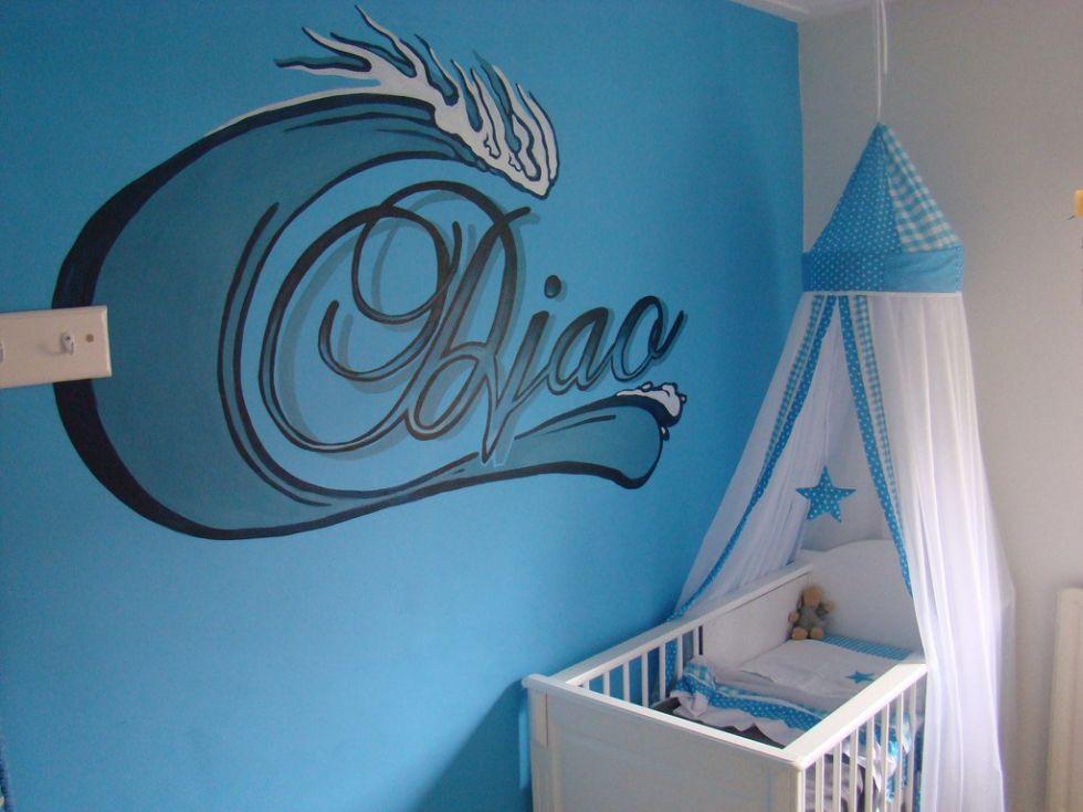 Kinderkamer Ideeen Auto : Een muurschildering babykamer kan voor uw ...