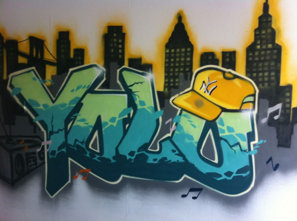 graffiti ipv behang
