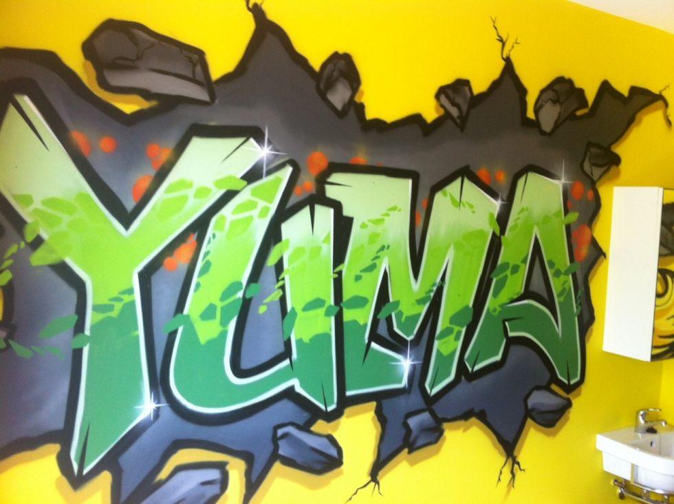 Tienerkamer graffiti YUma