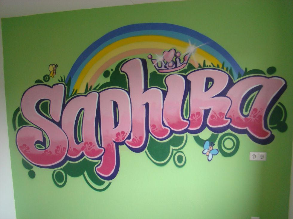 Graffiti kinderkamer sap