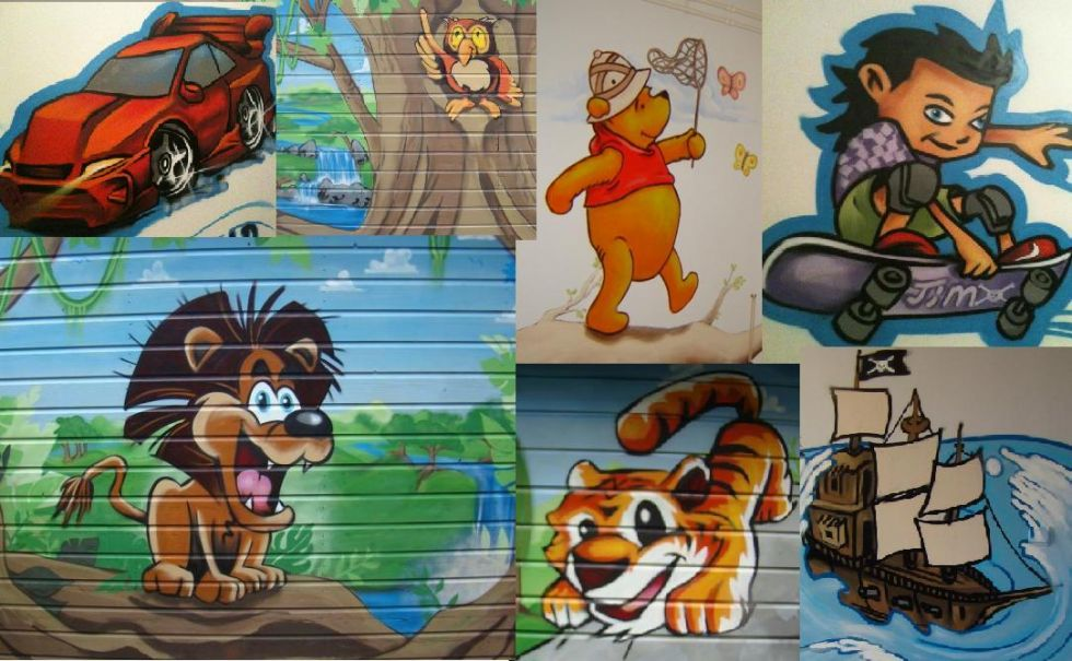 Graffiti kinderkamer mix