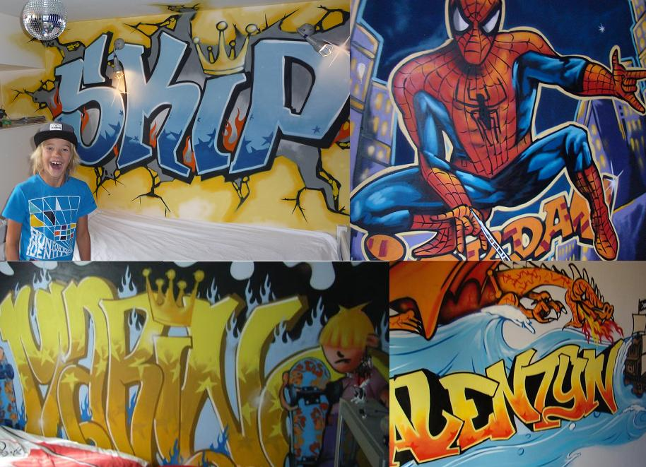 Graffiti kinderkamer mix 2