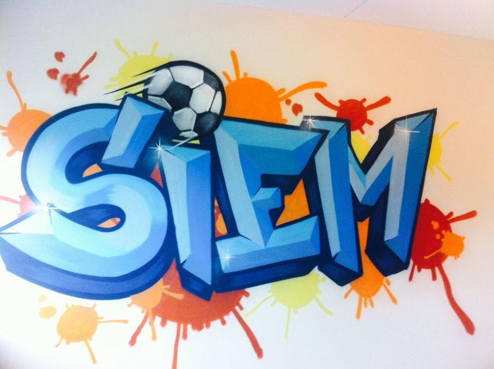 Siem kinderkamer graffiti