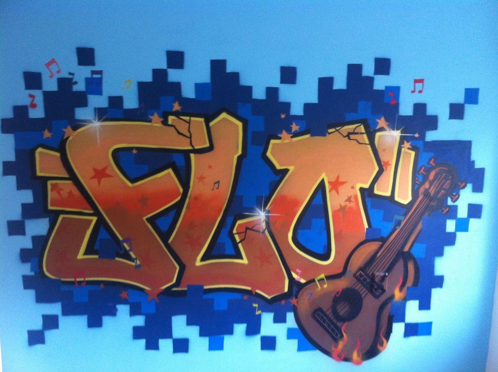 graffiti slaapkamer flo