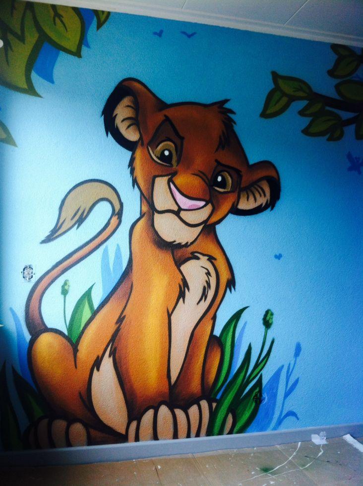 simba graffiti slaapkamer
