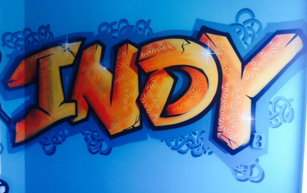 graffiti slaapkamer indy
