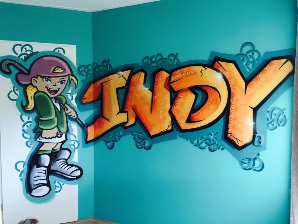 Graffiti Op Je Slaapkamer Muur : Graffiti slaapkamer Surfing4art