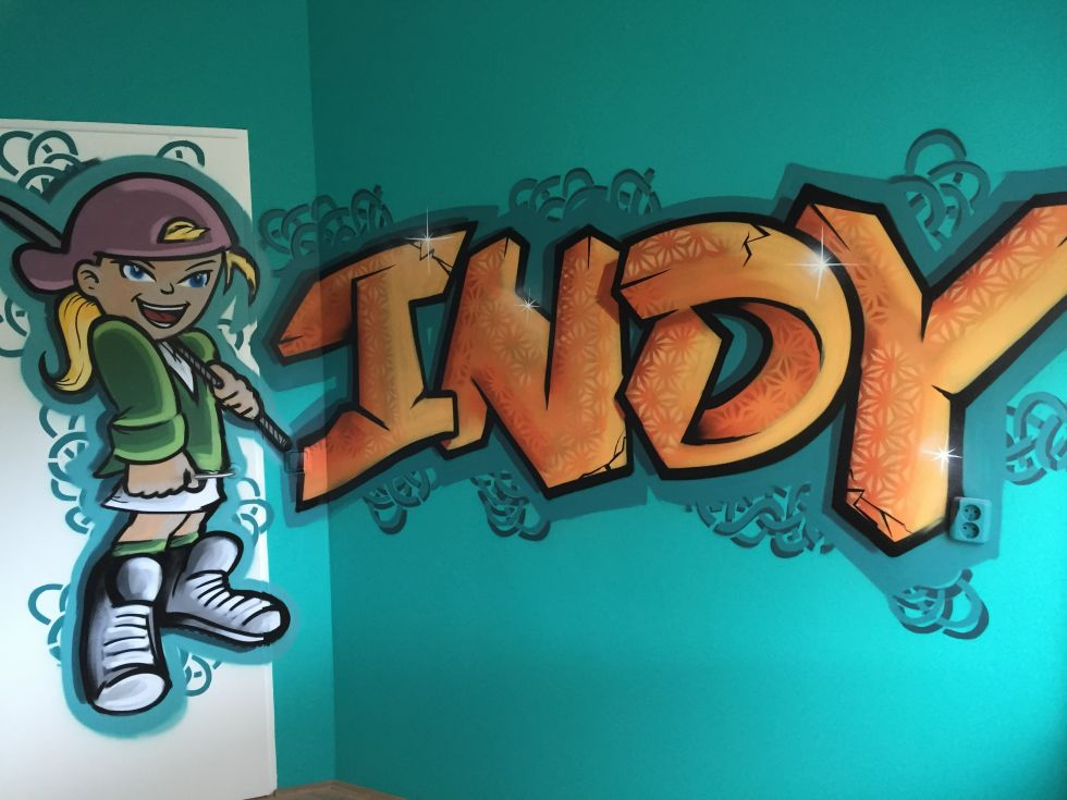 Graffiti slaapkamer - Surfing4art