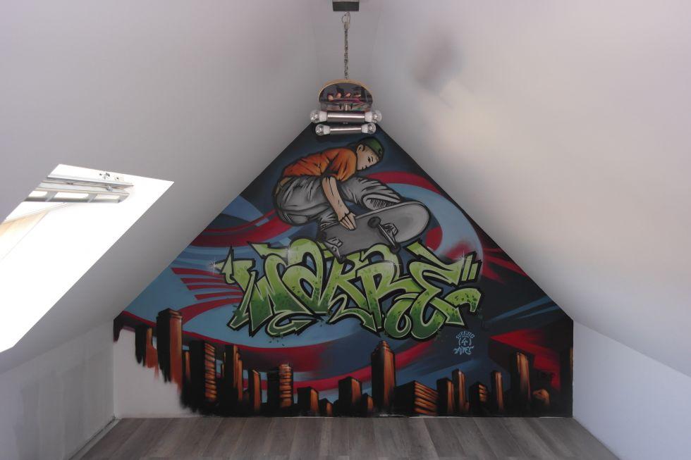 graffiti slaapkamer warre