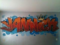 graffiti slaapkamer yannick1